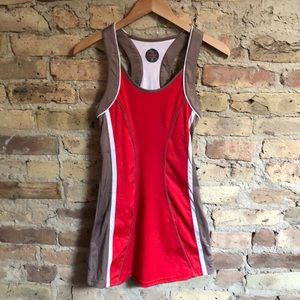 Beautiful cherry red tennis dress